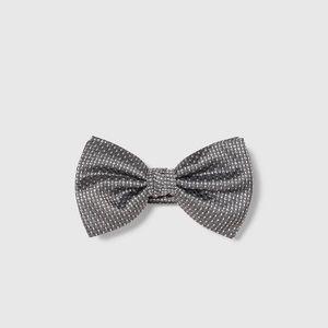 Zara grey micro polka dot bow tie